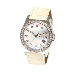 Gucci GUCCI Pantheon 115.4 Diamond Bezel Boys Watch 10P Diamond Date White Shell [Watch] ★