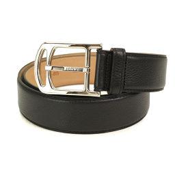 Unused exhibit loewe LOEWE belt leather black 34-85 529.04.122 accessories [accessories] ★