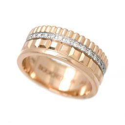 Boucheron Cattle Radiant Diamond # 49 Small Ring K18PG [BJ] ★