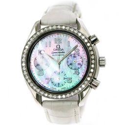 オメガ スピードマスター 3815 72 55 クロノグラフ ダイヤベゼル 腕時計 ホワイトシェル 文字盤 自動巻き 【腕時計】★