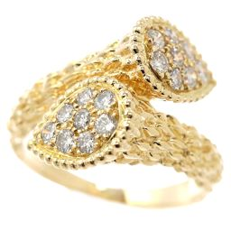 Boucheron Serpent Bohème Toiremore Diamond Ring # 56 K18YG Yellow Gold 750 Diamond Ring BOUCHERON [BJ] ★