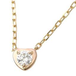 Cartier Diaman Leger de heart diamond necklace 41cm K18PG [BJ] ★