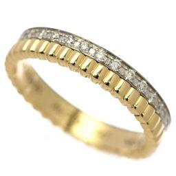 Boucheron BOUCHERON Cattle Radiant Diamond # 47 Ring K18YG / WG [BJ] ★