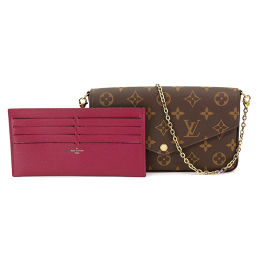 Vuitton Monogram Pochette Felicy链式钱包双折长款钱包[品牌]★