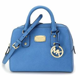 Unused Michael Kors MICHAEL KORS 2way hand shoulder bag leather blue 35S3GSAS1L [brand] ★