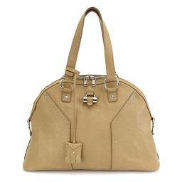 Yves Saint Laurent Muse bag handbag leather beige 156464 [brand] ★