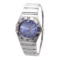 オメガ コンステレーション ミニ 1562 81 レディース 腕時計 ブルー 文字盤 クォーツ ウォッチ 【腕時計】★