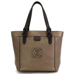 Loewe LOEWE Justa Anagram Tote Bag Leather Bronze Gold Hardware 90098275 [Brand] ★