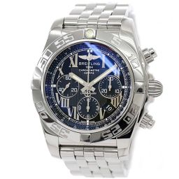 Breitling Chronomat 44 AB0110 Chronograph Men's Watch Date Black Dial Automatic winding [Watch] ★