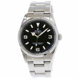 ロレックス エクスプローラ1 114270 Y番 メンズ 腕時計 ブラック 文字盤 オートマ 自動巻き ウォッチ 【腕時計】★