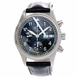 IWC Spitfire IW370613 Chronograph Men's Watch Day Date Black Dial Automatic winding [Watch] ★