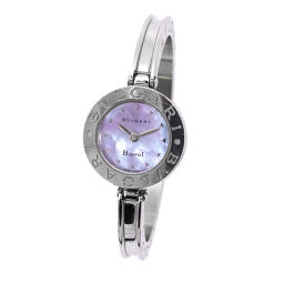 Bvlgari Be Zero One B-Zero1 BZ22S Bangle Watch Wristwatch Blue Shell Dial Quartz [Watch] ★