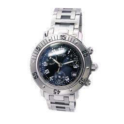 エルメス クリッパー ダイバー クロノグラフ CL2 310 レデイース 腕時計 デイト ブラック 文字盤 クォーツ 【腕時計】★
