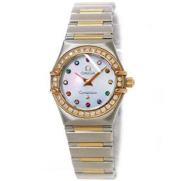 欧米茄Constellation Mini Iris Combi 1360 79 Diamond Bezel Ladies Watch Quartz [手表]★