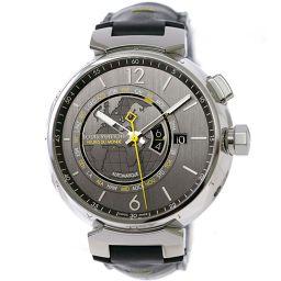 路易威登Tambour世界计时器GMT Q1055男士手表日期返回骨架自动上链[手表]★