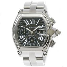 Cartier Roadster Chronograph W62020X6 Men's watch Date Black Dial Automatic winding [Watch] ★