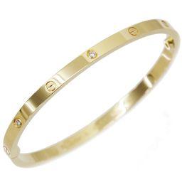 Cartier love breath SM half diamond 6P # 16 K18YG 750 bracelet bangle [BJ] ★