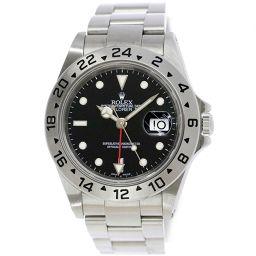 ロレックス エクスプローラー2 16570 K番 メンズ 腕時計 デイト ブラック 文字盤 オートマ 自動巻き 【腕時計】★