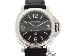 Panerai / luminol / base logo / hand-rolled / black / mens / PAM 00000