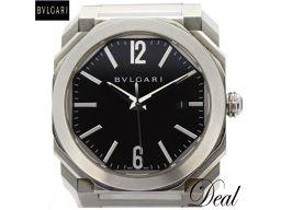 ブルガリ オクト BG041S 裏スケ 自動巻 黒 メンズ 腕時計