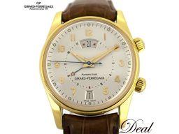OH済み! ジラール・ぺルゴ トラベラー2 アラーム GMT 自動巻 4940 YG メンズ 腕時計