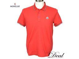 新品 モンクレール ポロシャツ 赤 Mサイズ 半袖 メンズ B1091831309984444