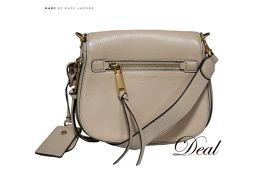 美品 マークジェイコブス リクルート ショルダーバッグ M0008137-261 ベージュ 鞄