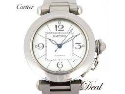 カルティエ パシャC W31074M7 白 腕時計 男女兼用