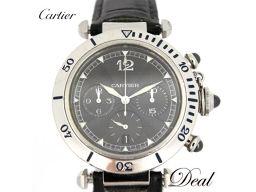 カルティエ パシャ38 クロノ W3105155 N950 プラチナ メンズ 腕時計