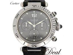 カルティエ パシャ38 クロノ W3107355 メンズ 腕時計 2004年クリスマス限定