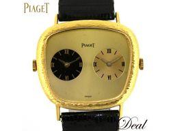 ピアジェ K18YG デュアルタイム 手巻 レディース 腕時計