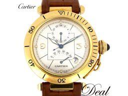 カルティエ パシャ38 GMT W3014456 YG製 メンズ 腕時計