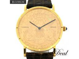 コルム 20ドル コインウォッチ YG製 メンズ 腕時計