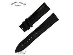 フランクミュラー 革ベルト 純正 黒 18mm