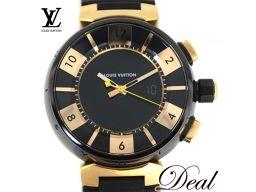 ルイヴィトン タンブールインブラック Q118N メンズ 腕時計