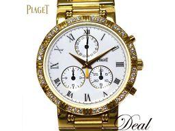 ピアジェ ダンサー クロノ 14024K81 ベゼルダイヤ YG製 腕時計 希少