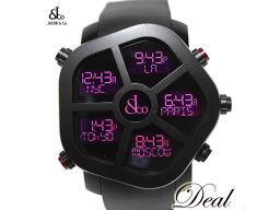 Jacob Ghost JC-GST 5 Time Zone Mens Watch