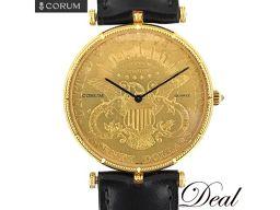 コルム 20ドル コインウォッチ YG製 腕時計