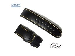 Panerai Leather Belt Black 24-22mm Watch Genuine Replacement Band