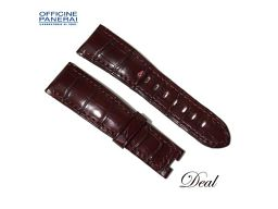 Panerai Leather Belt Bordeaux 25-20mm Watch Genuine Replacement Band