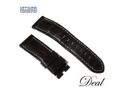 Panerai Leather Belt Brown 24-22 mm Watch Genuine Replacement Band