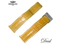 Breitling genuine spare belt D buckle leather yellow watch