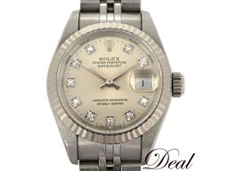 10Pダイヤ ロレックス デイトジャスト 69174G レディース 腕時計