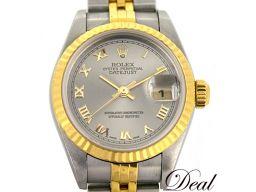 ロレックス デイトジャスト 79173 レディース 腕時計 YGコンビ グレー