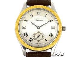 レ・ジェネヴェ 手巻 スモールセコンド メンズ 腕時計