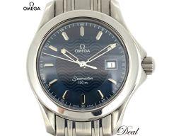 オメガ シーマスター120 2571.81 青 レディース 腕時計