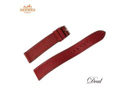 エルメス 革 替えベルト 純正 赤 16mm レディース 腕時計 Hウォッチ