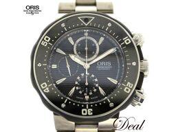 オリス プロダイバー クロノグラフ 674 7630 7154 チタン メンズ 腕時計