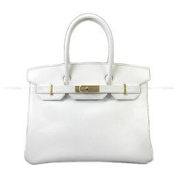 HERMES Hermes Birkin 30 Handbag White White Epson Gold Hardware New unused