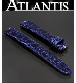 未使用 パテック・フィリップ 純正 替えベルト クロコ ブルー ラグ幅12mm 腕時計